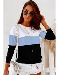 Блуза - код 9966 - 3 - шарена