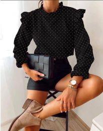 Блуза - код 5455 - црна