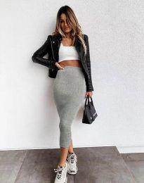 Сукња - код 2260 - сиво