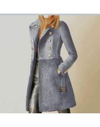 Палто - код 3100 - 4 - сиво