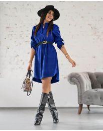 Фустан - код 9601 - темно сина