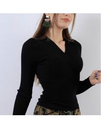 Блуза - код 6455 - црна