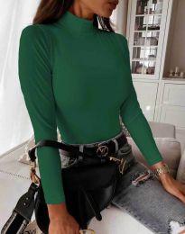 Блуза - код 6087 - зелена