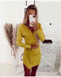 Фустан - код 2077 - жолта