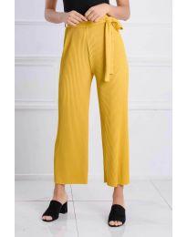 Панталони - код 4512 - жолта