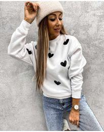 Блуза - код 3280 - 7 - бело