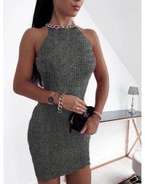 Фустан - код 9690 - темно сива