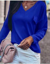 Блуза - код 0802 - темно сина