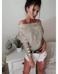 Блуза - код 3732 - кремова