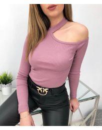 Блуза - код 8570 - виолетова