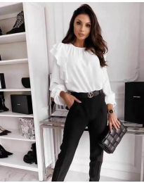 Блуза - код 4445 - бело