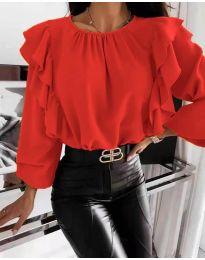Блуза - код 4445 - црвена