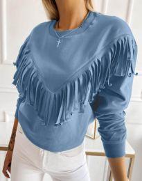 Блуза - код 12035 - небесно сина