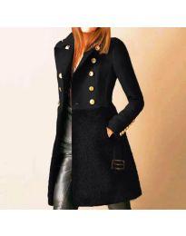 Палто - код 3100 - 3 - црна