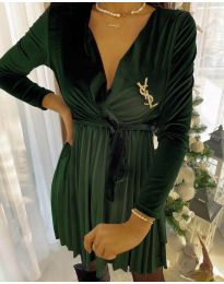 Фустан - код 8619 - 2 - путер зелена