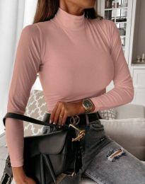Блуза - код 6087 - пудра