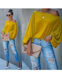Блуза - код 5151 - жолта