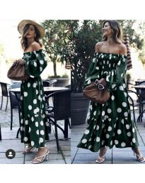 Фустан - код 9951 - путер зелена