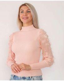 Блуза - код 7870 - розова