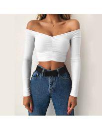 Блуза - код 4120 - бело