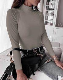 Блуза - код 6087 - сиво