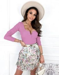 Блуза - код 9054 - виолетова