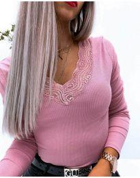 Блуза - код 3938 - розова