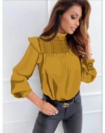 Блуза - код 6202 - окер
