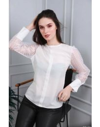 Блуза - код 0631 - 2 - бело