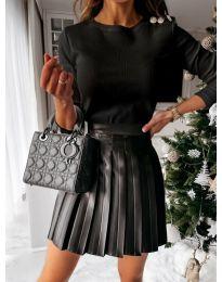 Блуза - код 4244 - црна