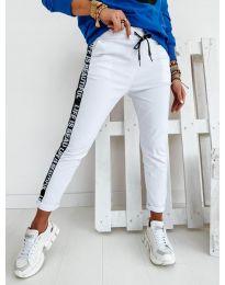Панталони - код 3062 - бело