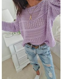 Блуза - код 2538 - виолетова