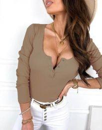 Блуза - код 9054 - кремова
