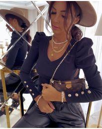 Блуза - код 2065 - 3 - црна