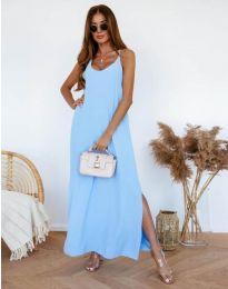 Фустан - код 11881 - светло сина
