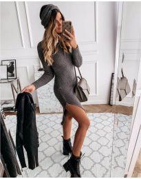 Фустан - код 6585 - темно сива