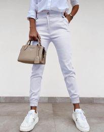 Панталони - код 4464 - бело