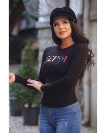 Блуза - код 6165 - 1 - црна
