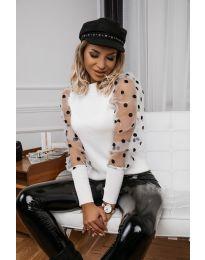 Блуза - код 3503 - бела