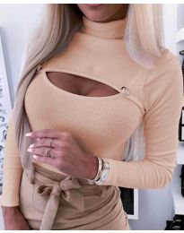 Блуза - код 3501 - 3 - праска