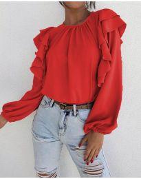 Блуза - код 1603 - 1 - црвена