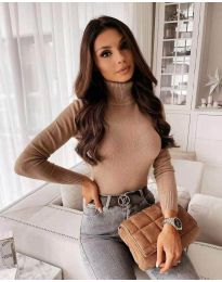 Блуза - код 9759 - кремова