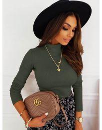 Блуза - код 7071 - путер зелена