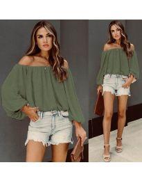 Блуза - код 6674 - зелена