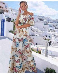 Фустан - код 8582 - бело