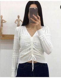 Блуза - код 385 - бело