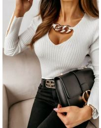 Блуза - код 4140 - бело