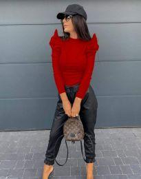Блуза - код 2838 - 3 - црвена