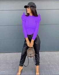 Блуза - код 2838 - 4 - виолетова