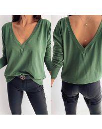 Блуза - код 3376 - зелена